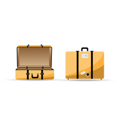 travel bag in yellow color vector image