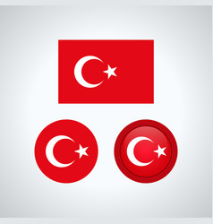 turkish trio flags vector image