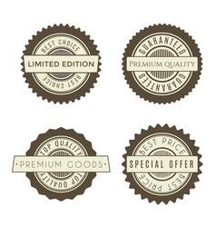 vintage badges set collection of premium design vector image