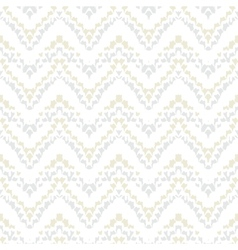 White geometric texture with hand drawn chevrons vector image