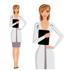Woman doctor portrait vector image