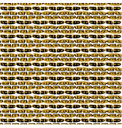 yellow and black abstract drawn cryptic symbols vector image
