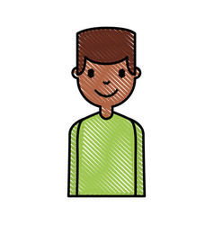 Young man black avatar character vector