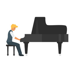 young piano musician vector image