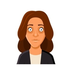 Young Woman Avatar Portrait Userpic on White vector image vector image