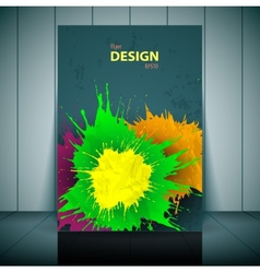 dental brochure flyer magazine cover poster vector image