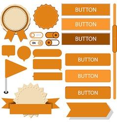 Flat web design elements vector image vector image