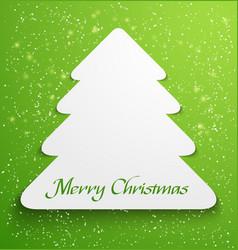 Green christmas tree applique vector image vector image