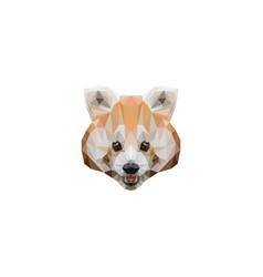 red panda logo polygons vector image
