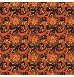 seamless pattern in traditional russian khokhloma vector image