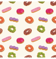 Seamless pattern of Donut vector image