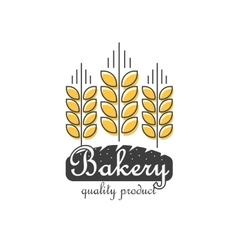 Bakery logo isolated line outline wheat vector image