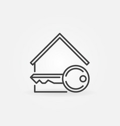 house with key icon vector image vector image