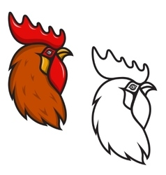 Rooster head isolated on white background Design vector image