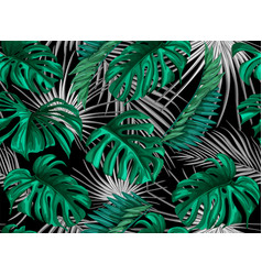 tropical leaves summer seamless pattern vector image vector image