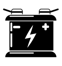 accumulator icon simple style vector image