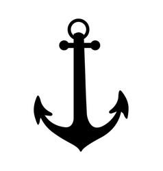 black silhouette anchor icon design vector image vector image