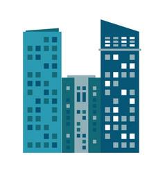 building urban skyscraper residential vector image vector image
