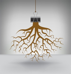 Clip Roots vector image vector image