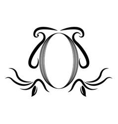 decorative shield heraldry victorian royal elegant vector image vector image