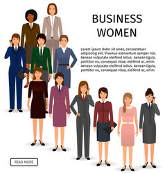 international business woman team group of office vector image