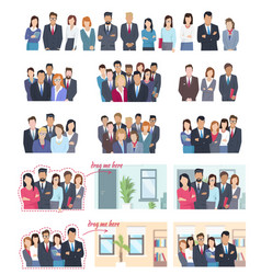 office employees big collection vector image