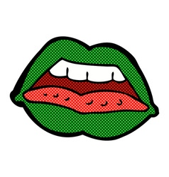 comic cartoon sexy halloween lips symbol vector image
