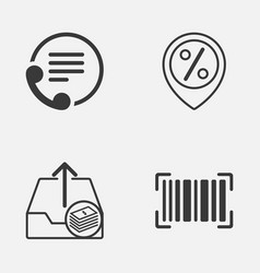 Ecommerce icons set collection of telephone vector