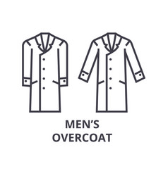 men overcoat line icon outline sign linear vector image vector image