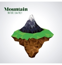 mountain low poly design vector image vector image