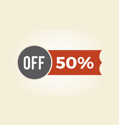 50 off sale clearance icon vector image