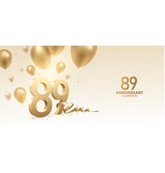 89th anniversary celebration background vector