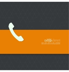 Abstract background with handset vector image