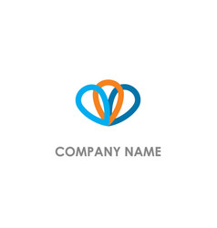 abstract pin colored company logo vector image