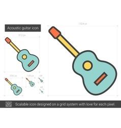 Acoustic guitar line icon vector
