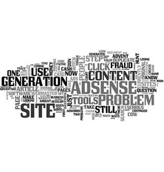 Adsense still a cash cow text word cloud concept vector