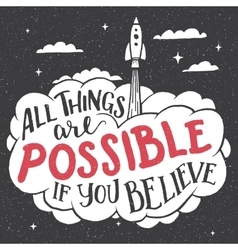 All things are possible if you believe card vector
