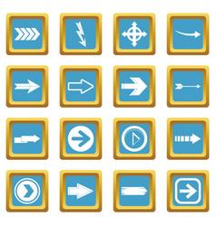 arrow icons azure vector image