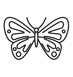 Artistic butterfly icon outline style vector