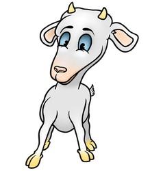 baby goat vector image