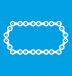 Bicycle chain icon white vector