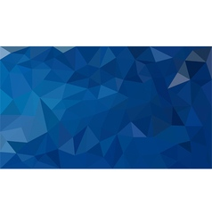 Blue polygon background vector