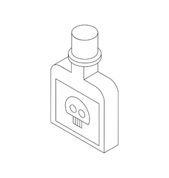 Bottle with poison icon isometric 3d style vector image