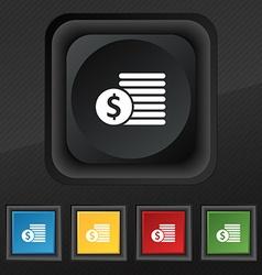 Buyer Menu icon symbol Set of five colorful vector image