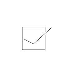 checklist button icon eps 10 style vector image
