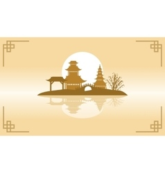 Chinese beauty landscape of backgrounds vector image