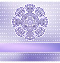 Christmas snowflake on red purple EPS8 vector image