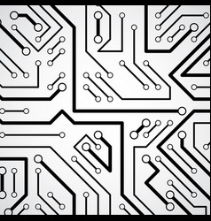 circuit board futuristic cybernetic texture vector image