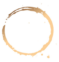 Close up coffee cup stains vector