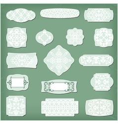 collection of vintage floral pattern design vector image